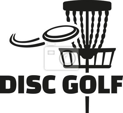 Disc golf avec panier et frisbee