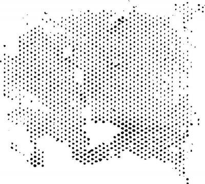 Sticker Dissipation de la texture du motif en demi-teinte dégénérante. Vector texture grunge superposition.