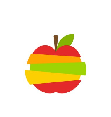 Sticker Divers Type de Fruits Tranches Stacked