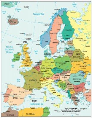 Sticker Divisions politiques européens