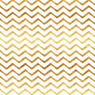 Sticker Doré Faux Foil Chevron métallisé Fond blanc motif