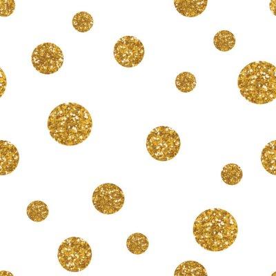 Sticker Dots modèle sans couture avec la texture dorée paillettes.