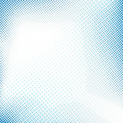 Sticker Dotted abstrait bleu rétro fond