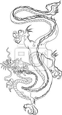 Dragon Chinois Dessines A La Main De Style Zentangle Et Croquis
