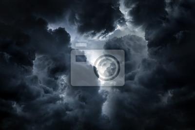 Sticker Dramatic Clouds Background