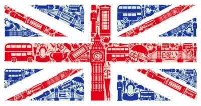 Sticker Drapeau de l'Angleterre à partir de symboles du Royaume-Uni et à Londres
