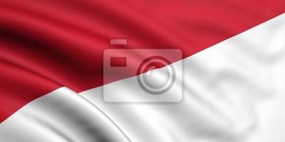 Sticker Drapeau de l'Indonésie / Monaco
