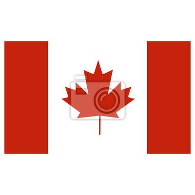 Drapeau du Canada sur un fond blanc