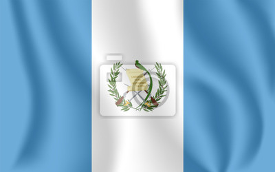 Drapeau du Guatemala. Drapeau agitant réaliste de la République du Guatemala. Drapeau fluide texturé de tissu du Guatemala.