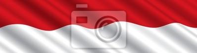 Sticker Drapeau indonésien dans le vent