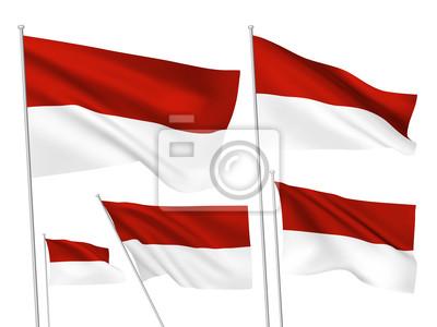Sticker Drapeaux vecteur Indonésie