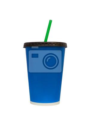 Drinking Cup Isoleted sur blanc, des chemins de détourage Fast Food