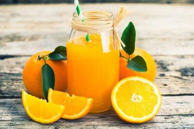 Sticker du jus d'orange