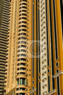 DUBAI, Émirats Arabes Unis, le centre-ville architecture particulière