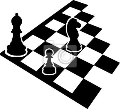 Échiquier avec des icônes d'échecs