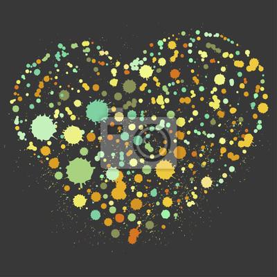 Éclaboussure, coeur, Illustration