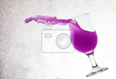 éclaboussures d'eau à partir de verre, Grunge Background