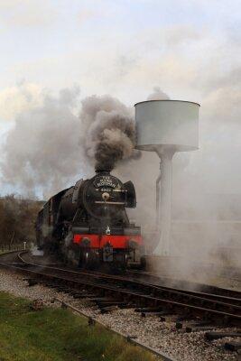 Sticker Écossais volant à la vapeur et à la fumée.