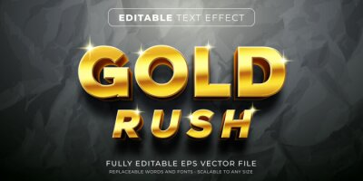 Sticker Editable text effect in elegant gold style