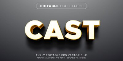 Sticker Editable text effect in heavy shadow cast style