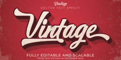Sticker Editable text effect, vintage retro text style