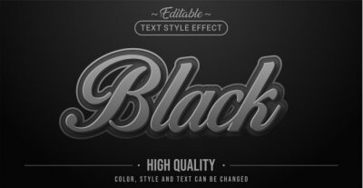 Sticker Editable text style effect - Black text style theme.