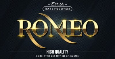 Sticker Editable text style effect - Romeo text style theme.