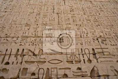 Egypte Hiéroglyphes dans la vallée des Rois