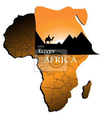 Egypte sur la carte de l'Afrique