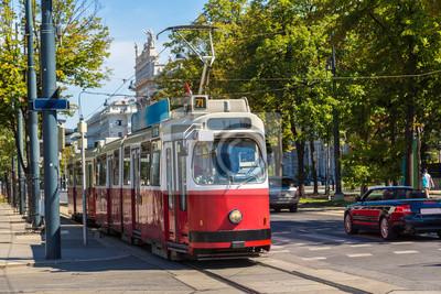 Electric tram à Vienne, en Autriche