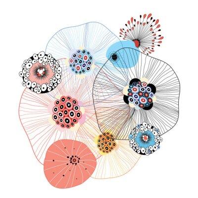 Sticker éléments abstraits