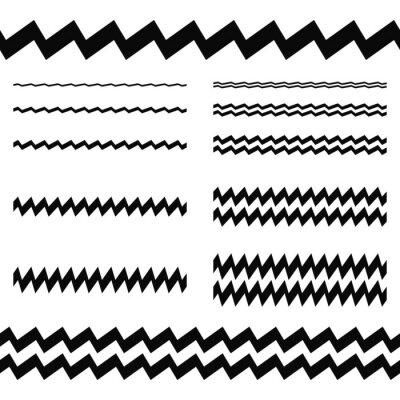 Sticker Éléments de conception graphique - jeu de lignes asymétriques