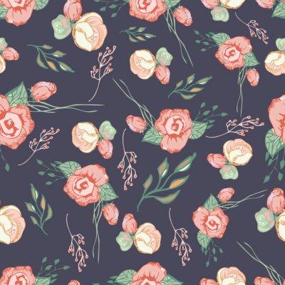Sticker Éléments floraux colorés sans soudure de motif 4