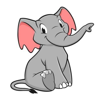 Sticker Elephant Cartoon