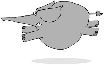 Sticker Éléphant, courant, peur