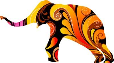 Sticker Éléphant décoratif