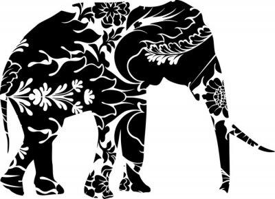 Sticker Éléphant Graphique