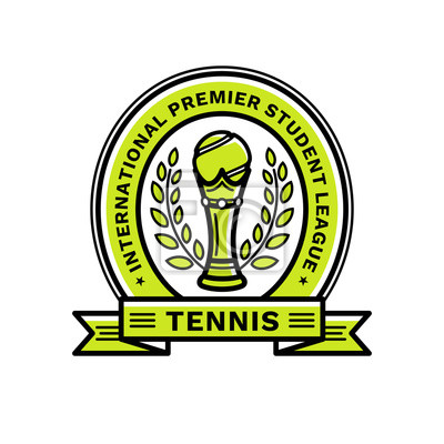 c364ca9f5b53f Sticker Emblème de la ligue de tennis, illustration, logo, style de ligne  moderne