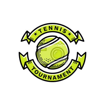 cc0ff9c695b00 Sticker Emblème de tournoi de tennis, illustration, logo, style de ligne  moderne,