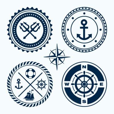 Sticker Emblèmes nautiques