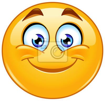 Emoticone Sourire Autocollants Murales Emoticones Smiley Sms Myloview Fr
