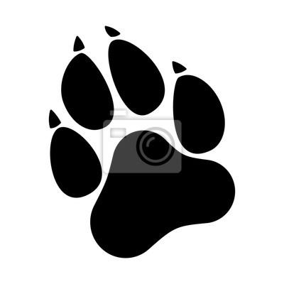 Empreinte Patte De Chien empreintes de pattes. chien ou chat imprimé icone plat pour les
