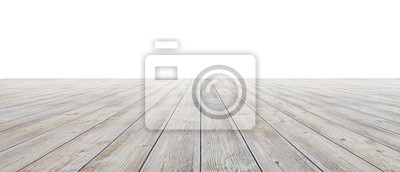 Sticker Empty floor with white walls and floor. Empty room studio gradient used for background and display your product. 3d illustration