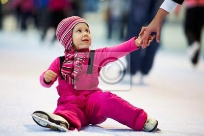 enfant penchée patinage