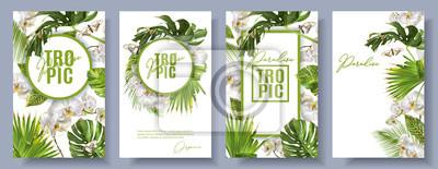 Sticker Ensemble blanc orchidée Tropic
