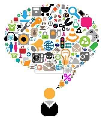 Ensemble d'icônes pour des thèmes de conversation