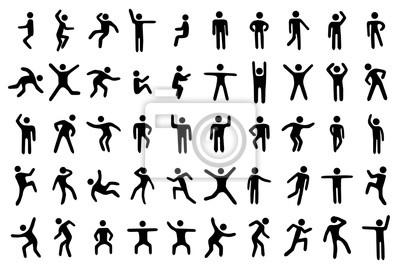 Sticker Ensemble de 50 figurines
