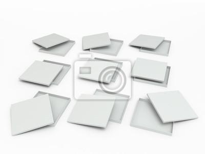 Ensemble de boîtes blanches