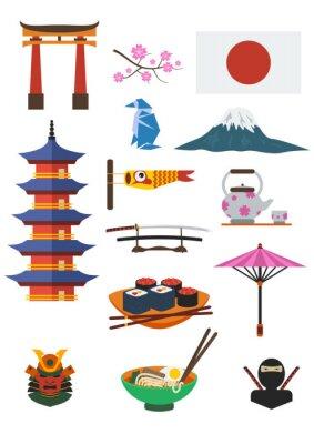 Sticker Ensemble de la culture japonaise