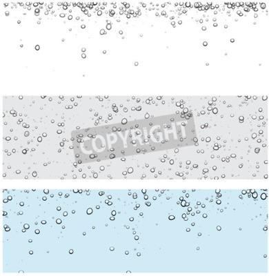 Sticker Ensemble de milieux avec des bulles. Vector illustration de l'eau.